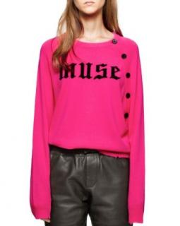 Zadig & Voltaire Pink Muse Cashmere Distressed Sweater