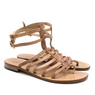 Da Costanzo Capri Snakeskin Sandals