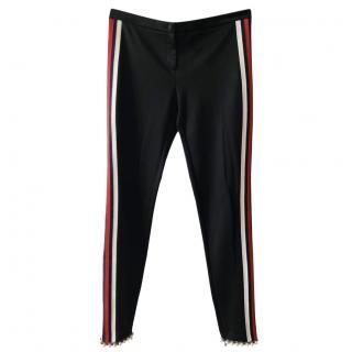Gucci Web Stripe Pearl Trim Joggers
