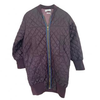 Paul Smith Quilted Longline Bomber Jacket