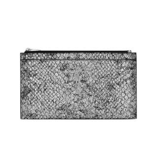 Saint Laurent Metallic Embossed Python Pouch