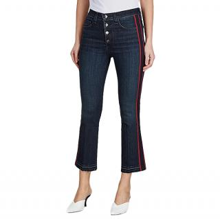 Veronica Beard Dark Blue Carolyn Bootcut Jeans