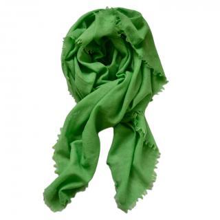 Ralph Lauren Collection Green Cashmere Blend Scarf
