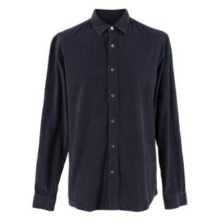 Gieves & Hawkes Navy Corduroy Casual Shirt