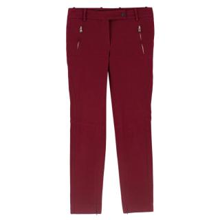Loro Piana Red Stretch-Cotton Pants