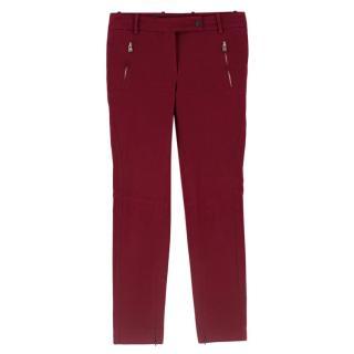 Loro Piana Red Stretch-Cotton Pants