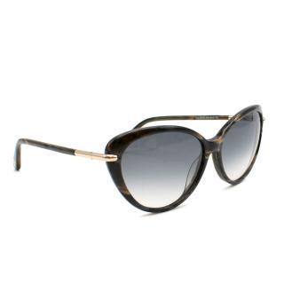 Tom Ford Rounded Cat-Eye Oversize Sunglasses