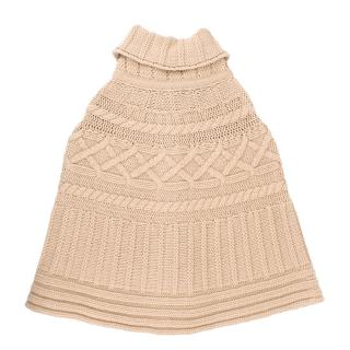 Gucci Girls Beige Wool Poncho