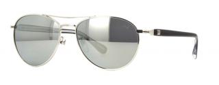 Dunhill SDH002 583X Shiny Titanium Mirrored Sunglasses