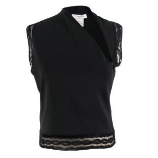 Christian Dior Black Sleeveless Knit Top