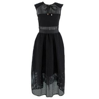 Self-Portrait Sleeveless Cutout Midi Dress