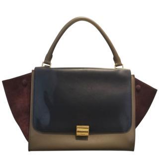Celine Tri-Colour Medium Trapeze Bag