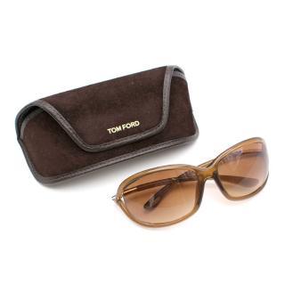 Tom Ford Brown Jennifer Rectangular Sunglasses