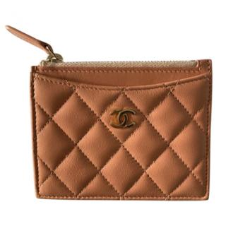 Chanel Lambskin Zip Detail Card Holder