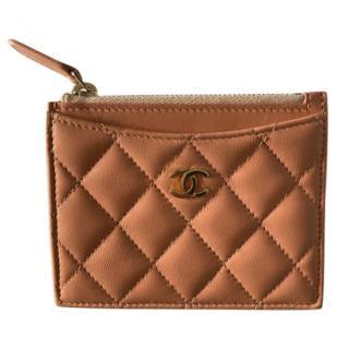 Chanel Lambskin Zip Detail Card Holder