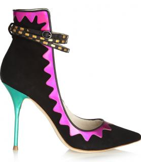 Sophia Webster Roka Iridescent Leather and Suede Pumps