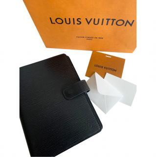 Louis Vuitton Black Epi Leather Medium Agenda Cover