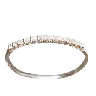 Bespoke White Gold Hinge Bracelet with Diamonds