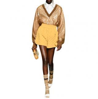 Fendi Runway Vichy Print sequin jumper