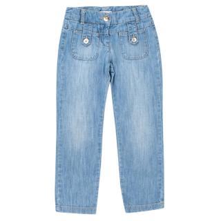 Chloe Light Blue Denim Straight leg Jeans