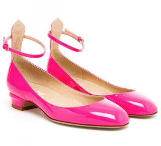 Valentino Neon Pink Mary-Jane Tango Sandals