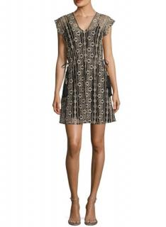 Calypso Embroidered Mini Cover-Up Dress