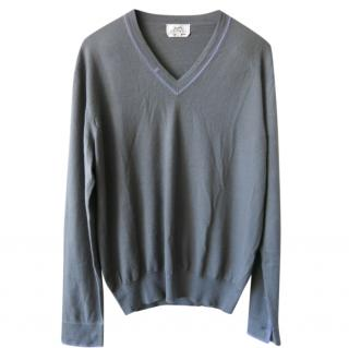 Hermes Cashmere Grey Sweater