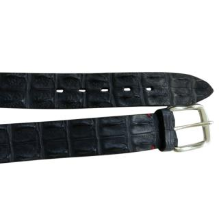 Budapester Black Crocodile Slim Belt