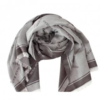 Max Mara Grey Wool & Silk Shawl