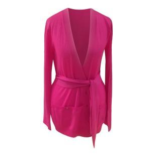 Christian Dior Pink Cashmere Cardigan