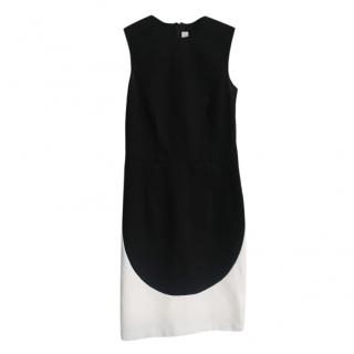 Stella McCartney Black & White Sleeveless Shift Dress