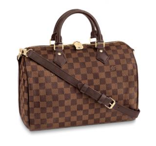 Louis Vuitton Speedy Bandouli�re 30 in Damier Eb�ne