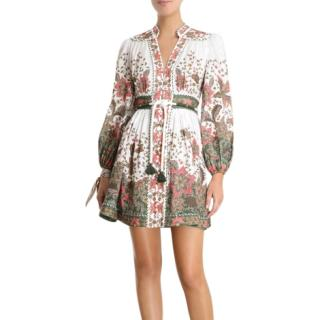 Zimmerman Empire Batik Short Dress