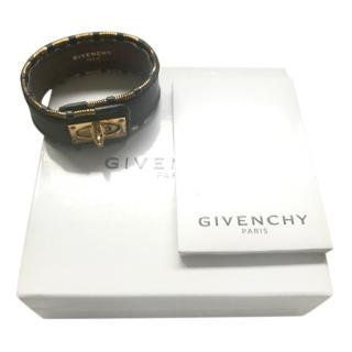 Givenchy Black & gold leather wristlet