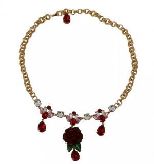Dolce & Gabbana Crystal Floral Collar Necklace