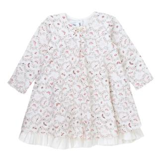 Baby Dior White Patterned Dress
