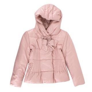 Monnalisa Pink Kids Puffer Coat