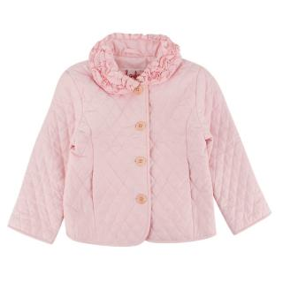 Il Gufo Girls Pink Quilted Jacket