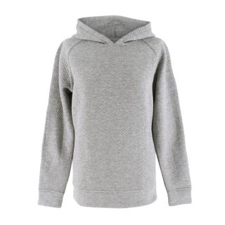 Bodyism Grey Quilted Hooded Jumper