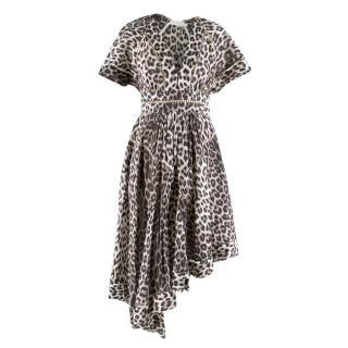 Zimmermann Leopard Print Asymmetrical Dress