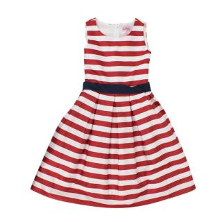 Monnalisa Striped Girls Dress