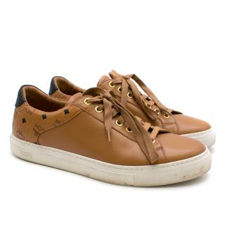MCM Brown Leather Low Top Trainers