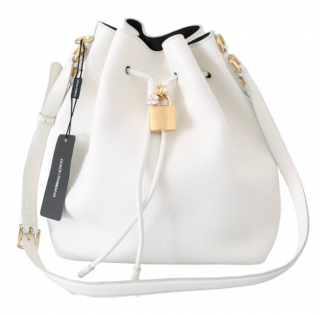 Dolce & Gabbana White Leather Bucket Bag