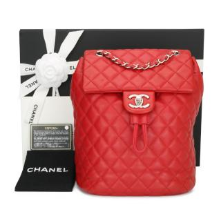 Chanel Small Red Urban Spirit Backpack