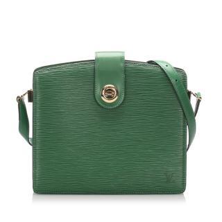 Louis Vuitton Epi Leather Green Capucine Shoulder Bag