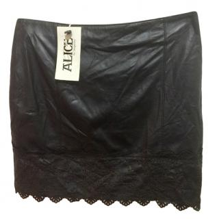 Alice by Temperley Black Laser-Cut Skirt
