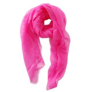 Max Mara Pink Cashmere Scarf
