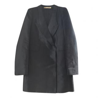Marni Tailored Black Silk Double Breasted Jacket