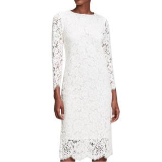 Ganni Jerome Lace Midi Dress