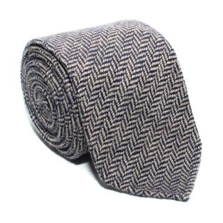 Drake's Brown Patterned Knitted Cashmere Tie